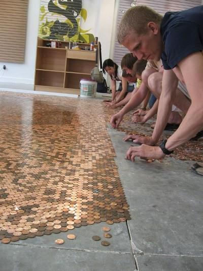 Copper floor