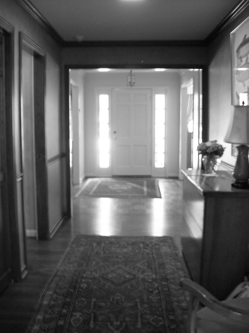 Front hall before