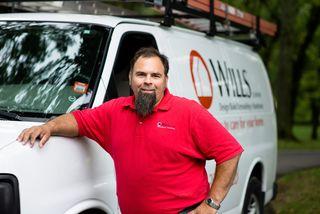 Wills Co. van with Mike
