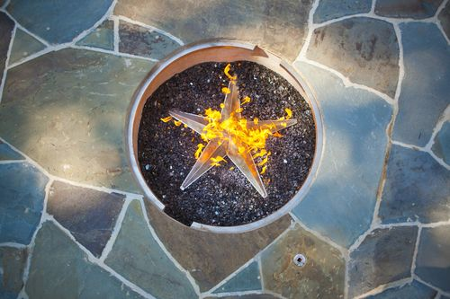 Star with Fire - print