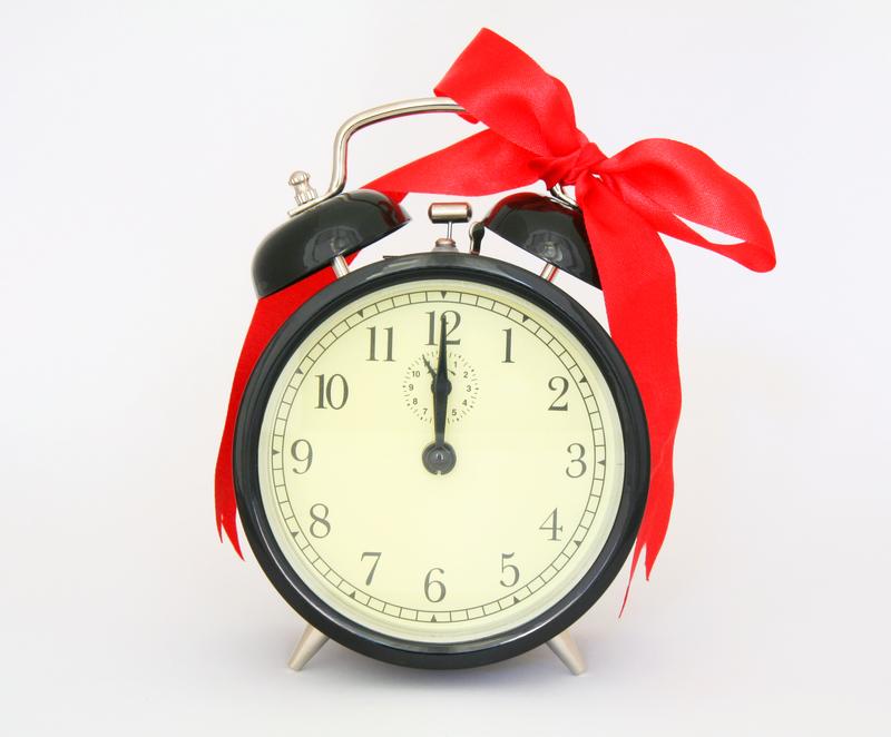 Clock with ribbon